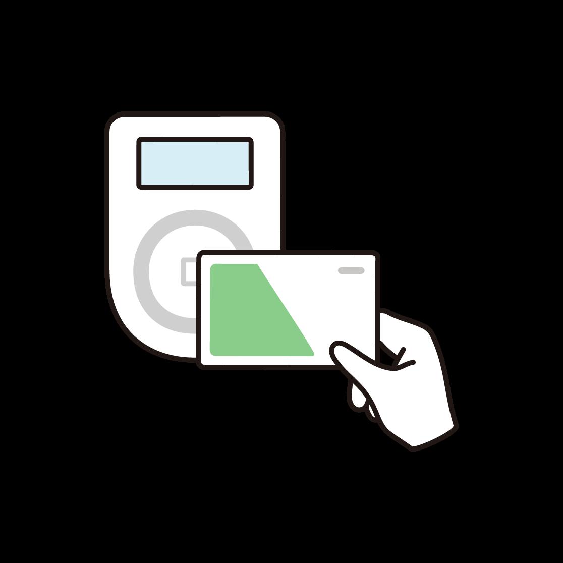 電子マネー決済のイラスト