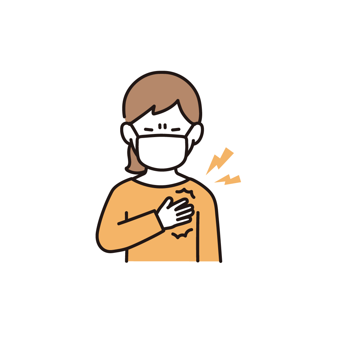 胸が苦しい女性のイラスト