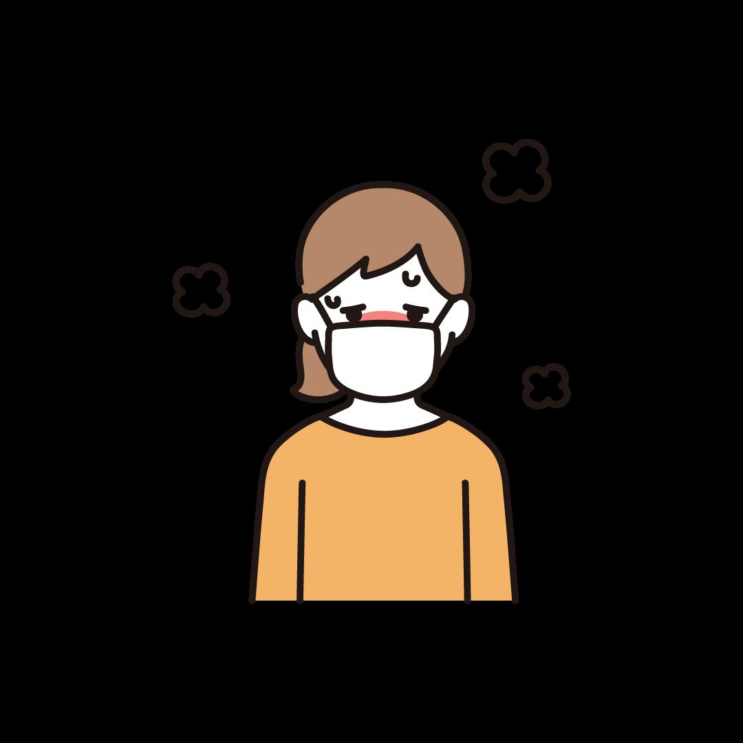 発熱(女性)のイラスト