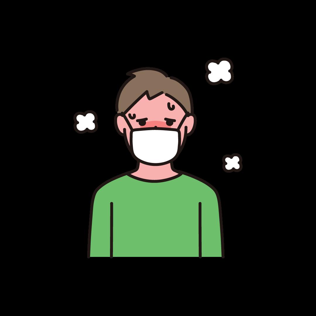発熱(男性)のイラスト