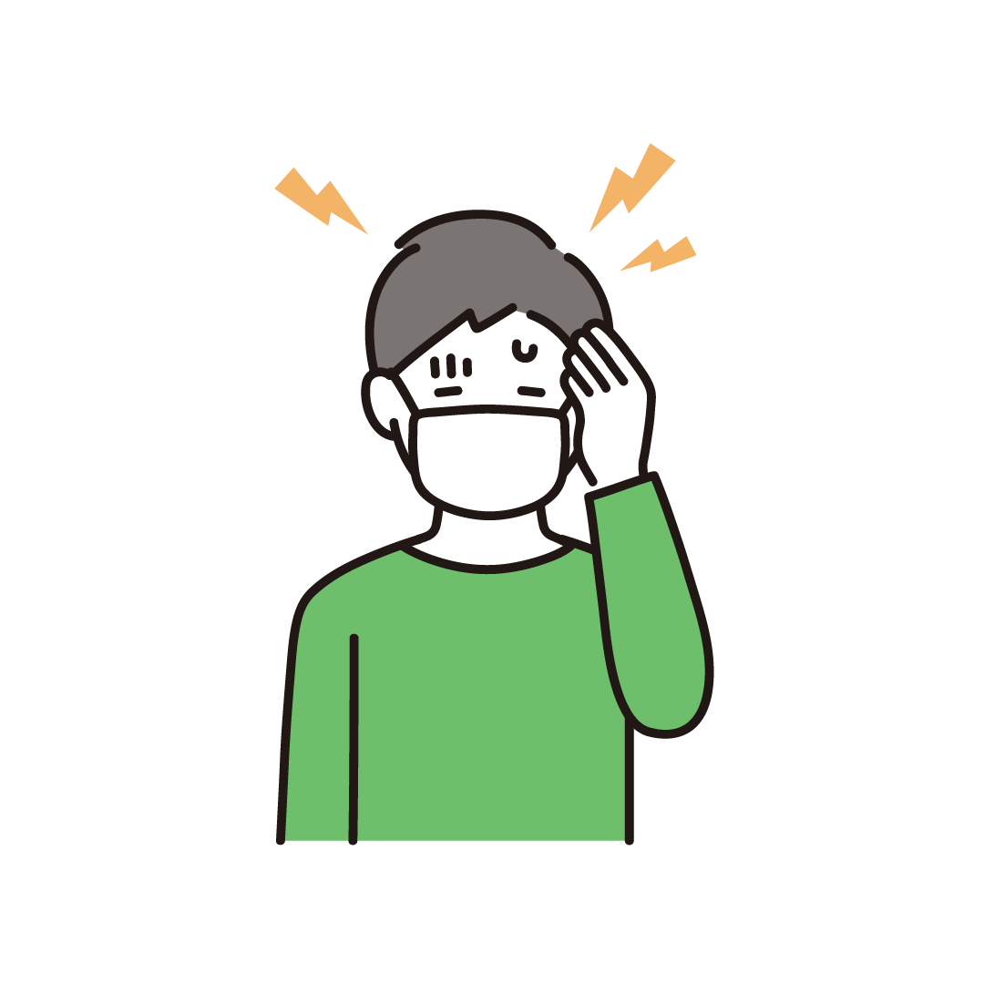 頭痛のイラスト(男性)のイラスト
