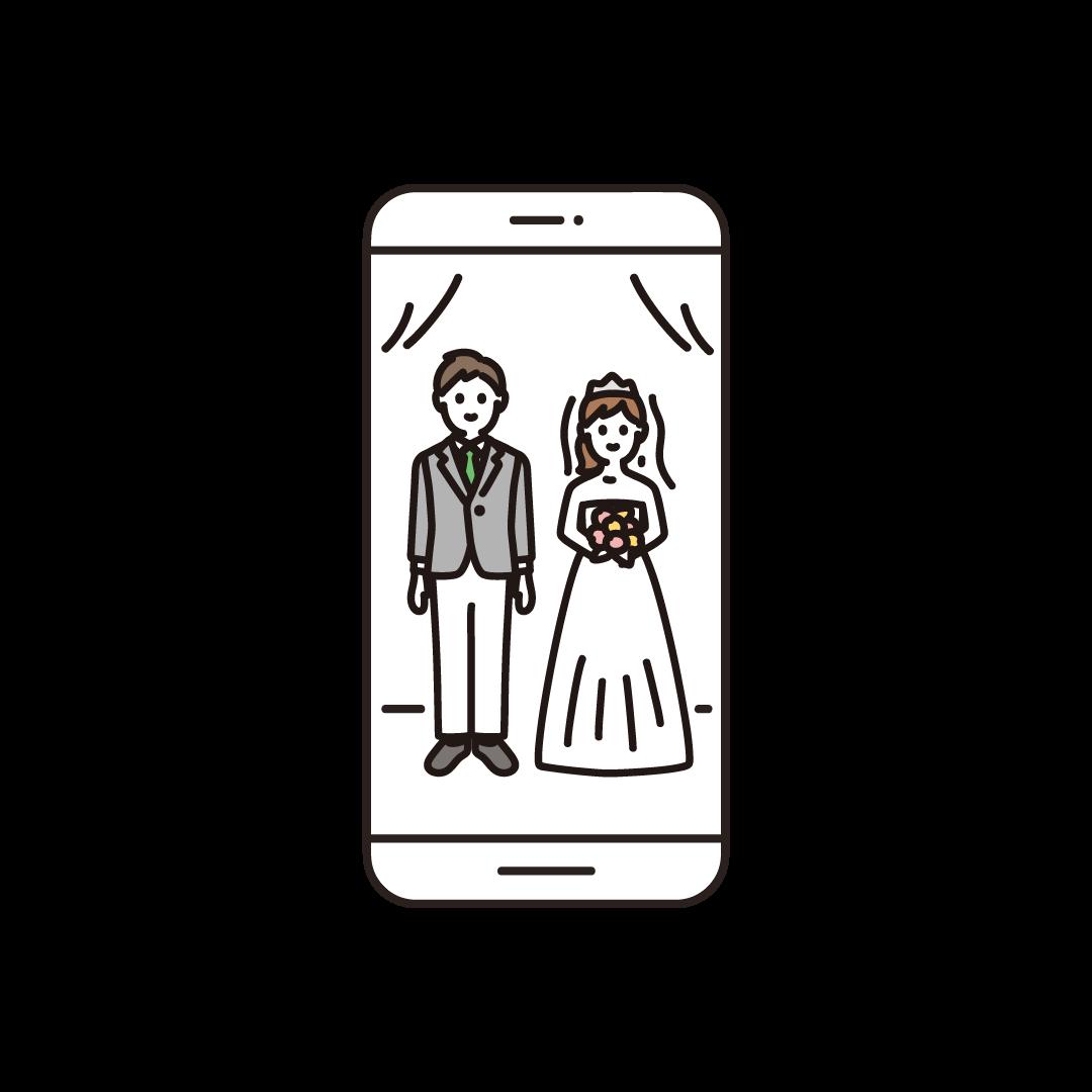 オンライン結婚式(スマホ)