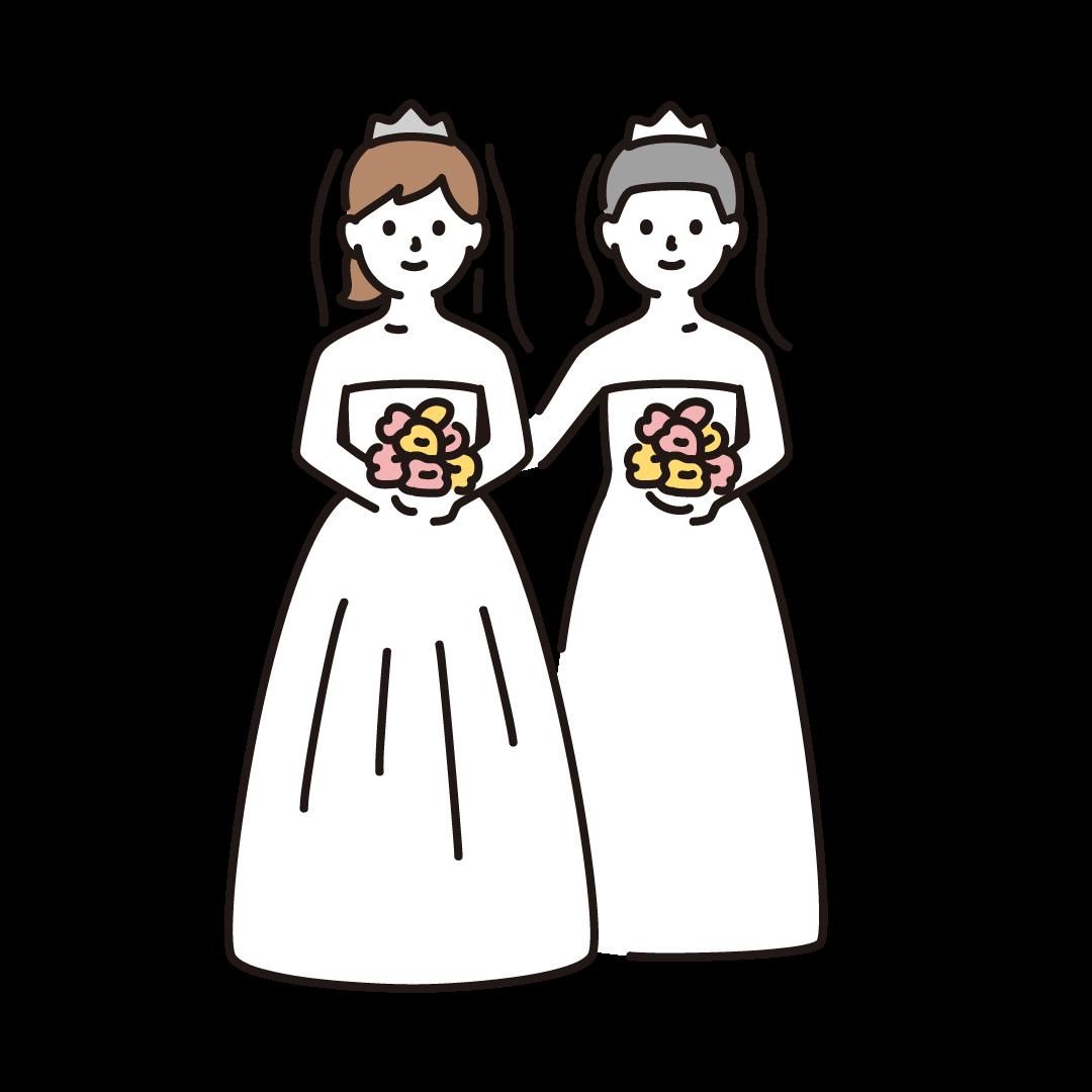 同性婚(女性)のイラスト