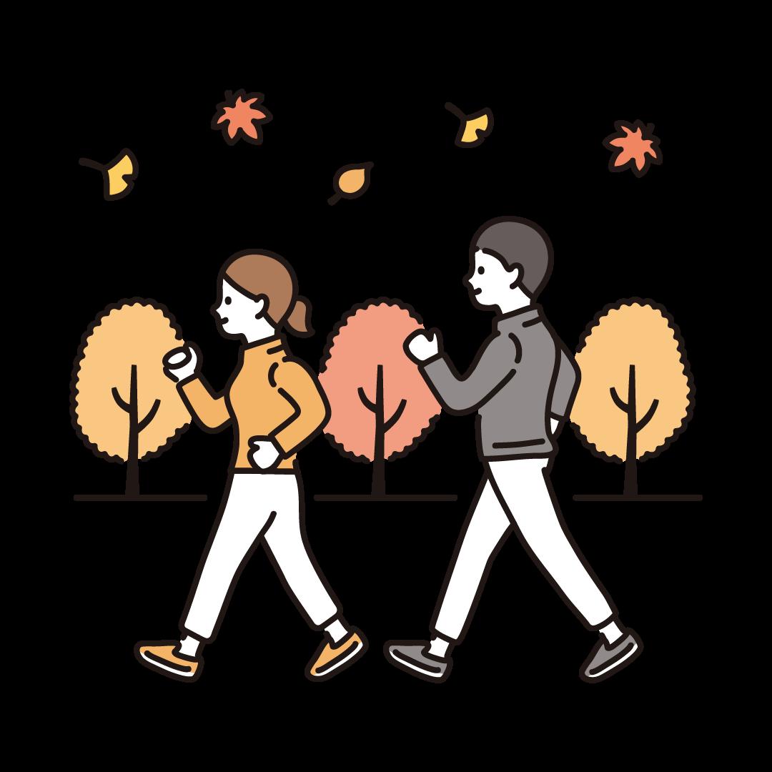 運動の秋のイラスト