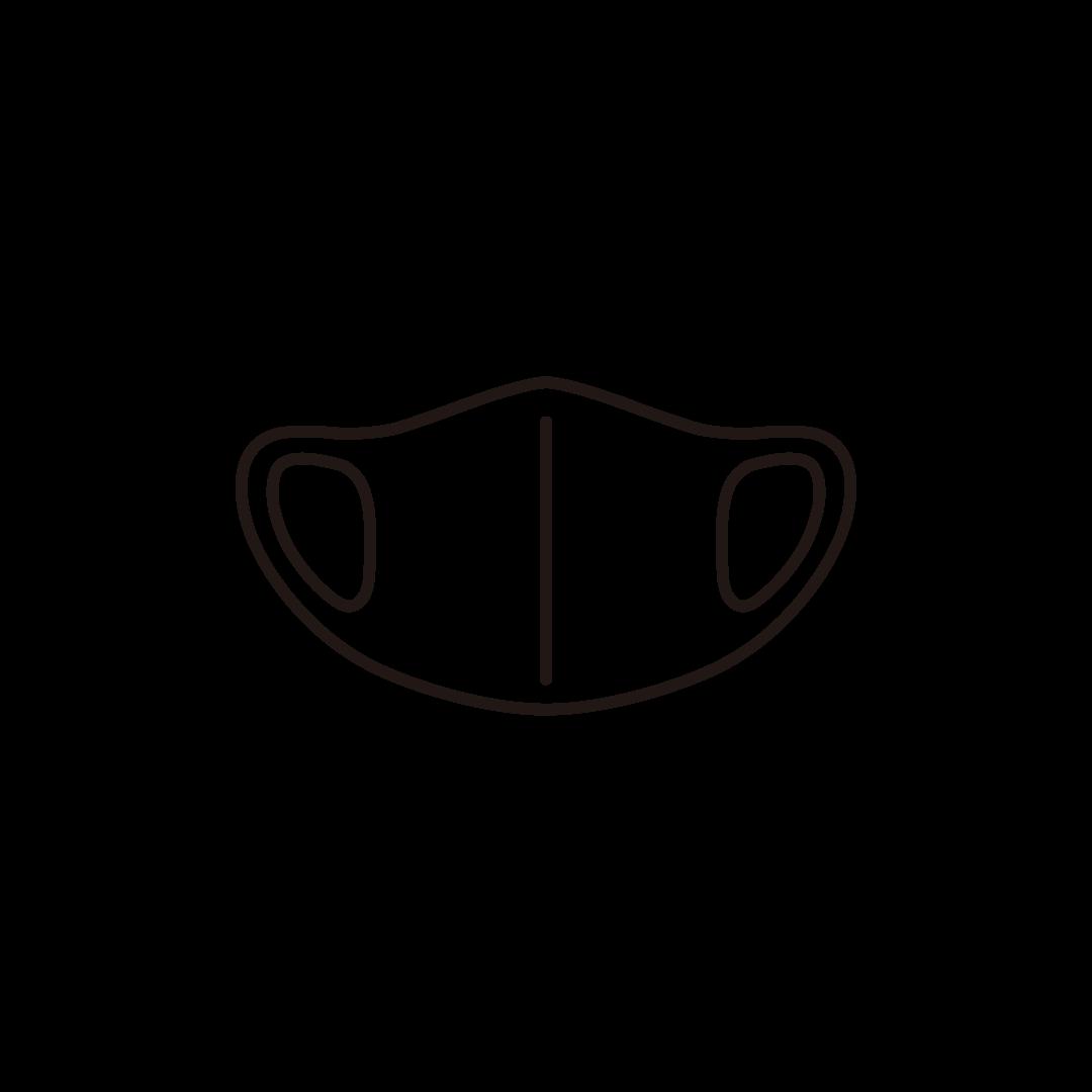 ウレタンマスクの線画イラスト