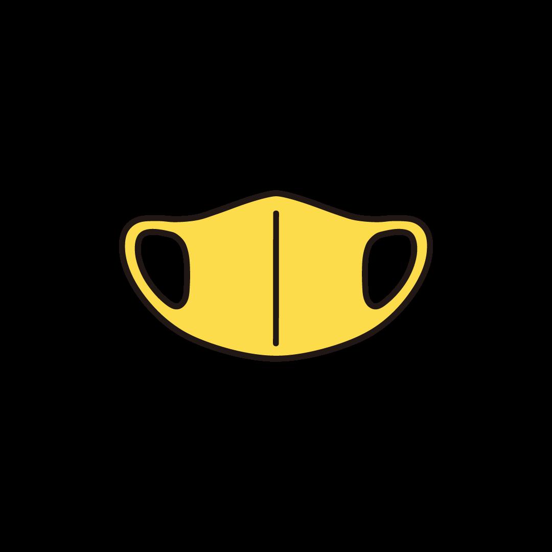 ウレタンマスクの単色イラスト
