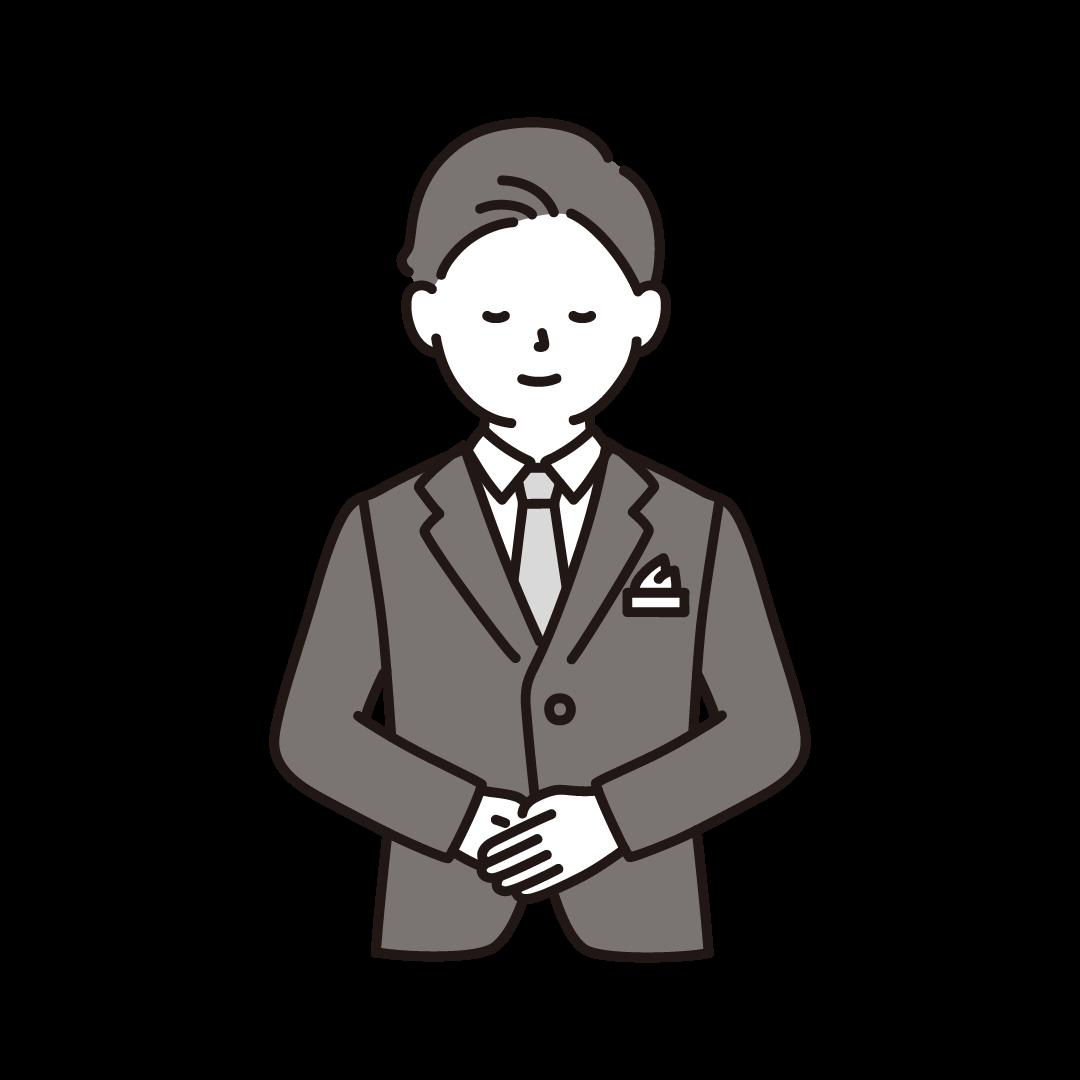 ウェディングプランナー(男性)のイラスト