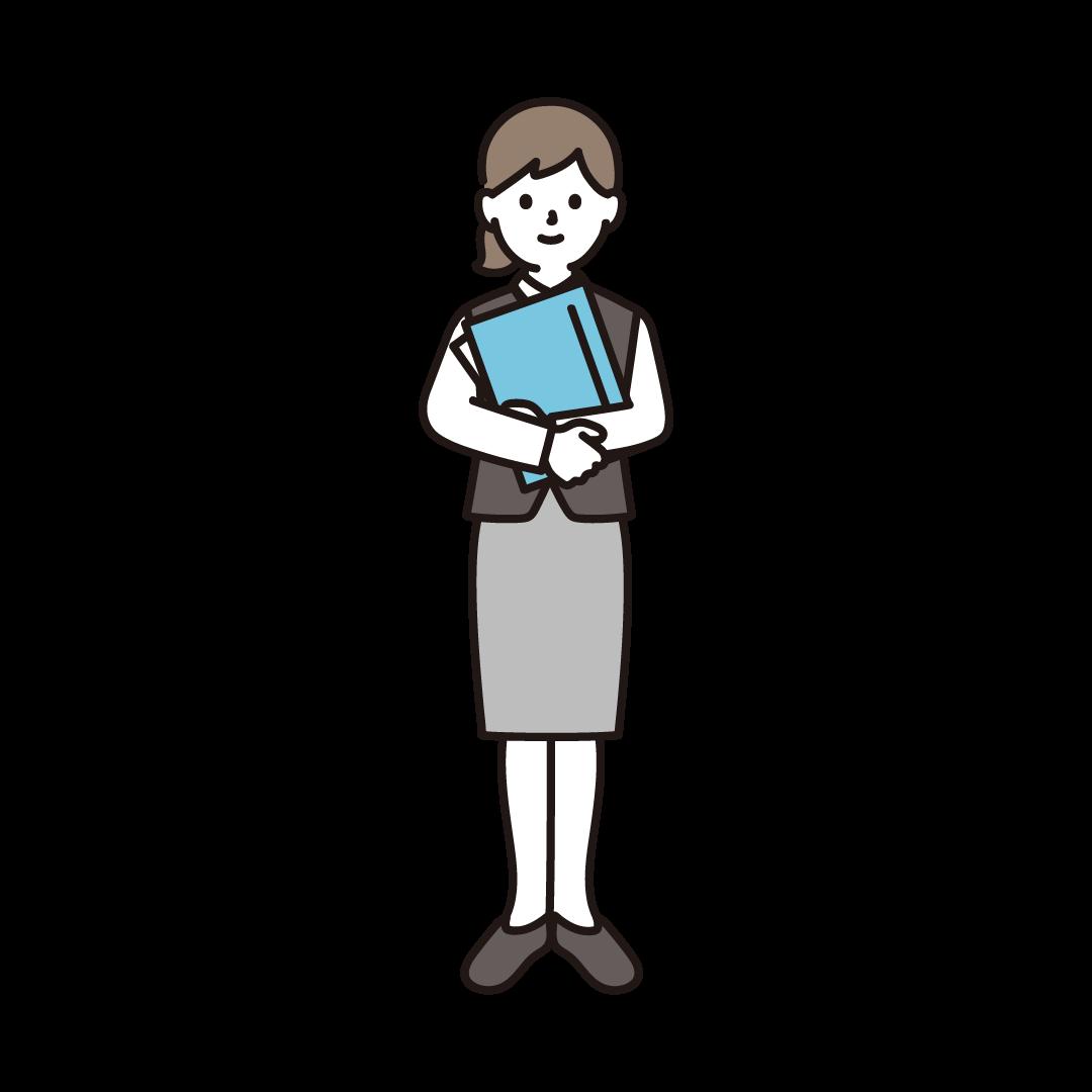 女性事務員のイラスト