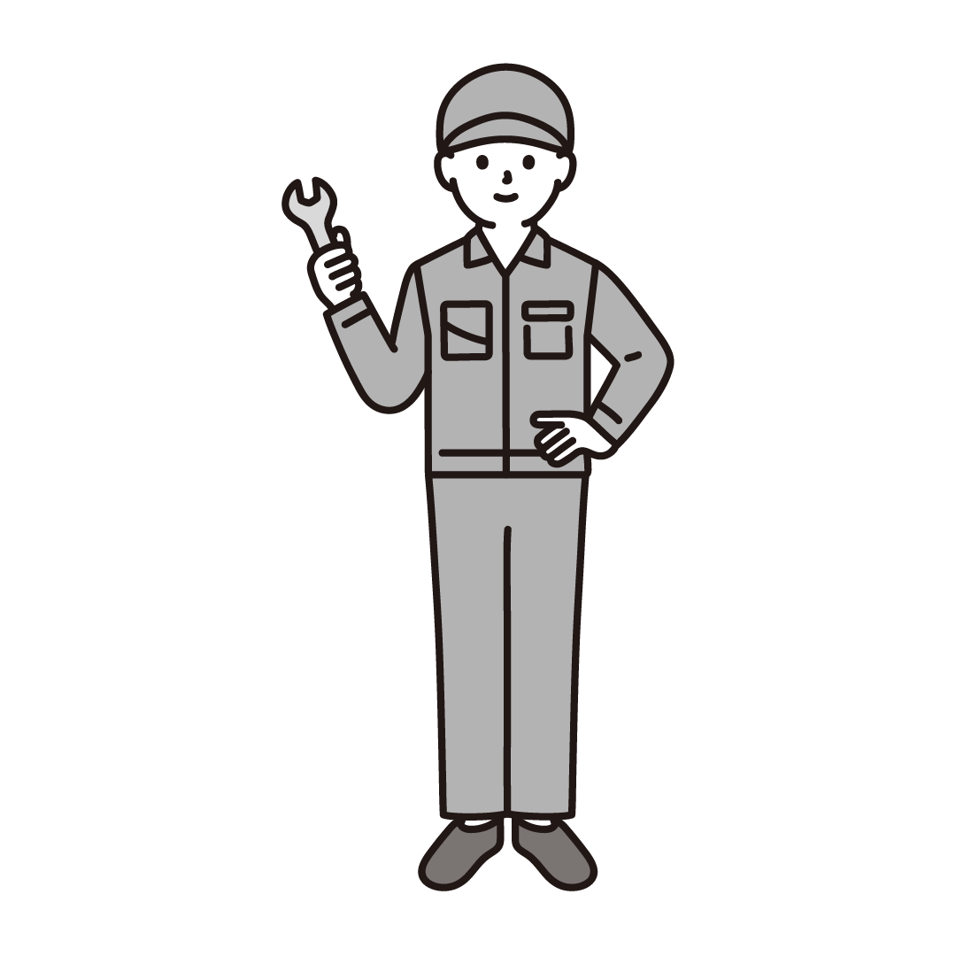 工場の男性作業員のイラスト