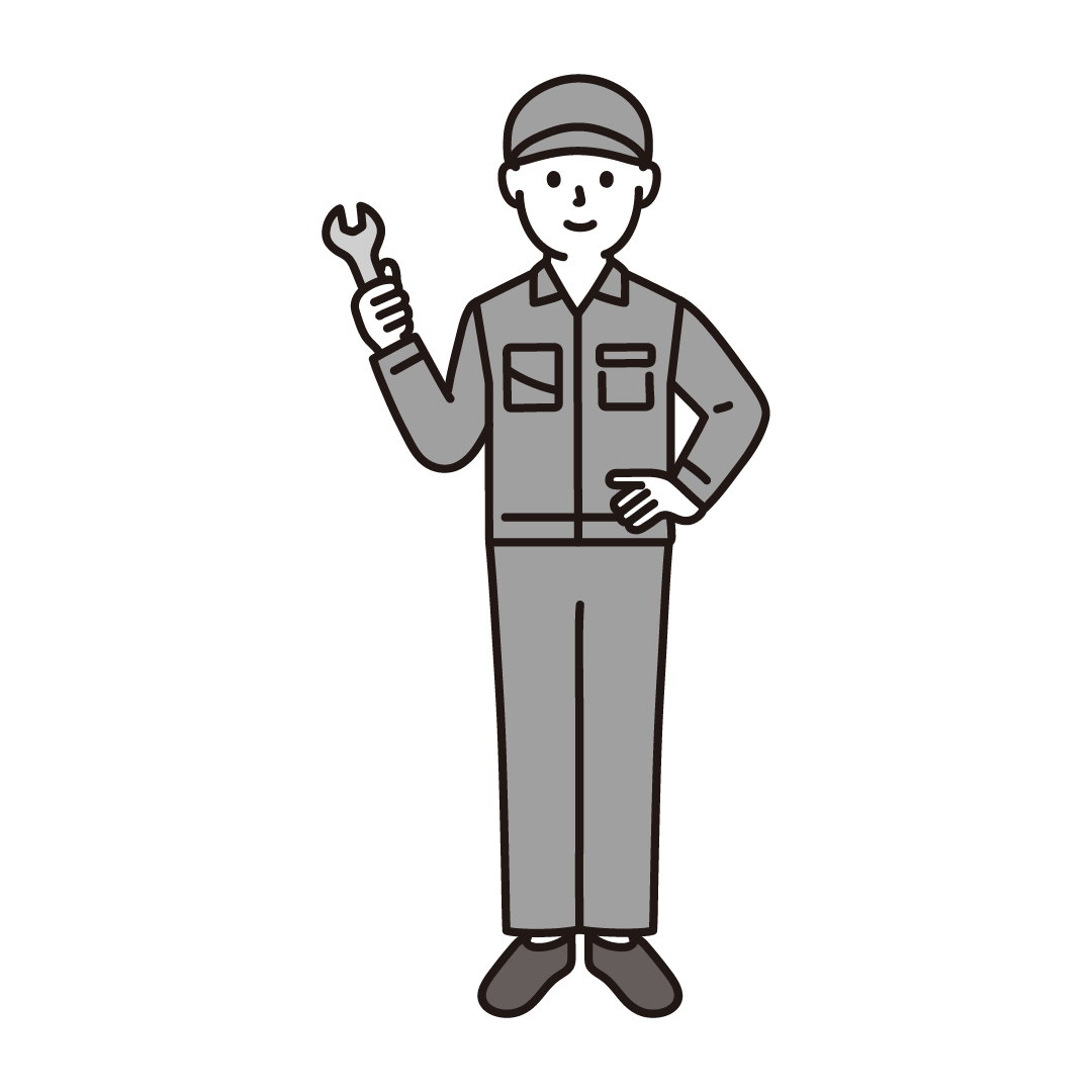 工場作業員(男性)のイラスト