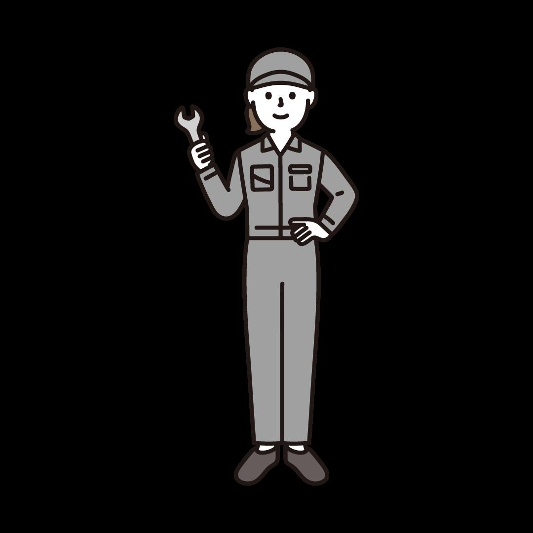 工場の作業員(女性)