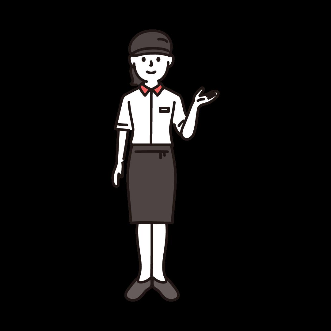 ファーストフード店員(女性)