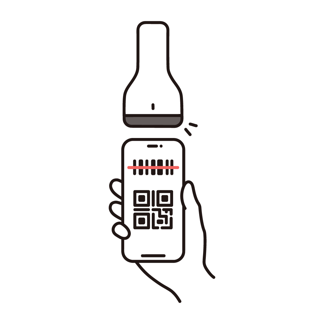 スマホ決済(バーコードリーダー)のイラスト