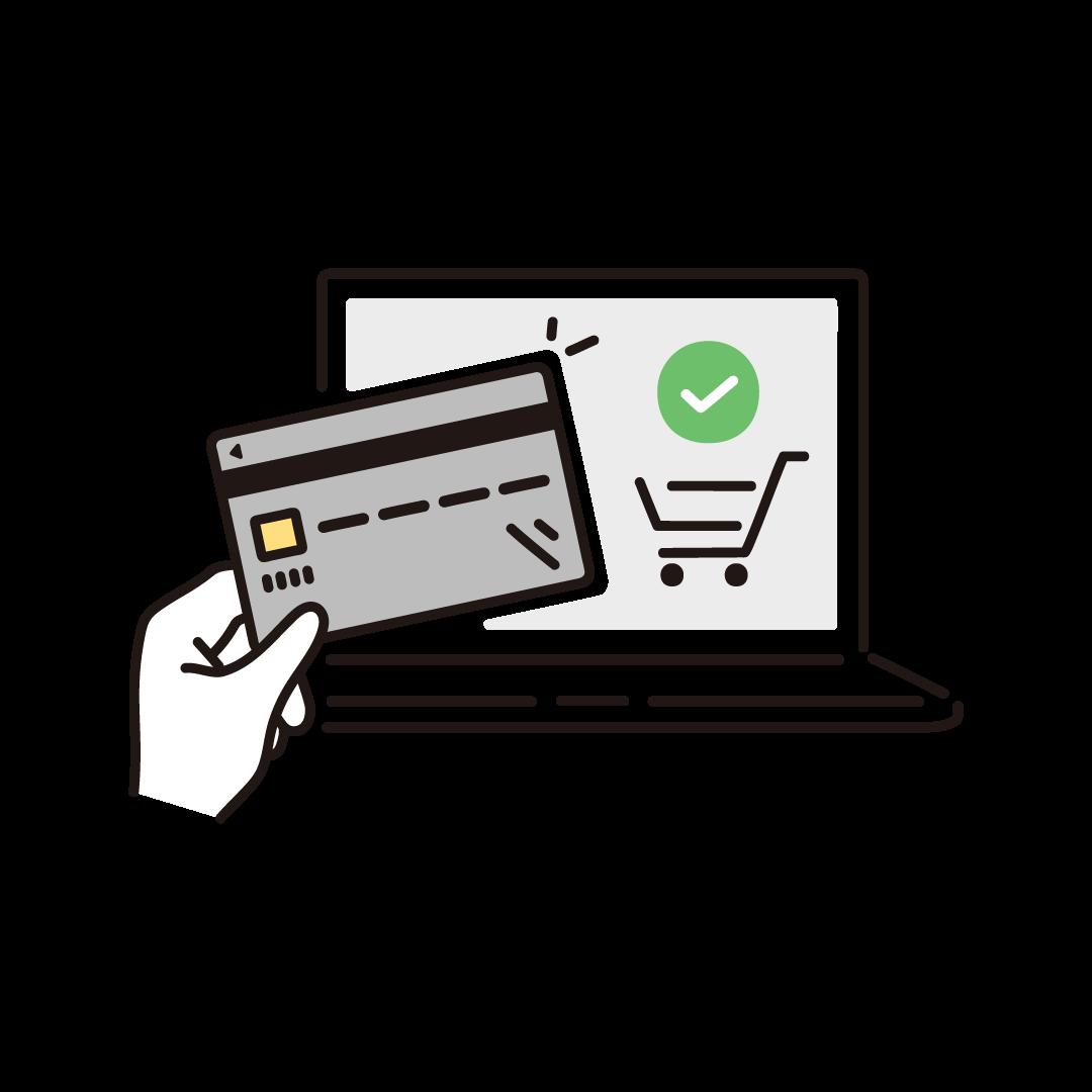ネットショッピング(クレジットカード決済)
