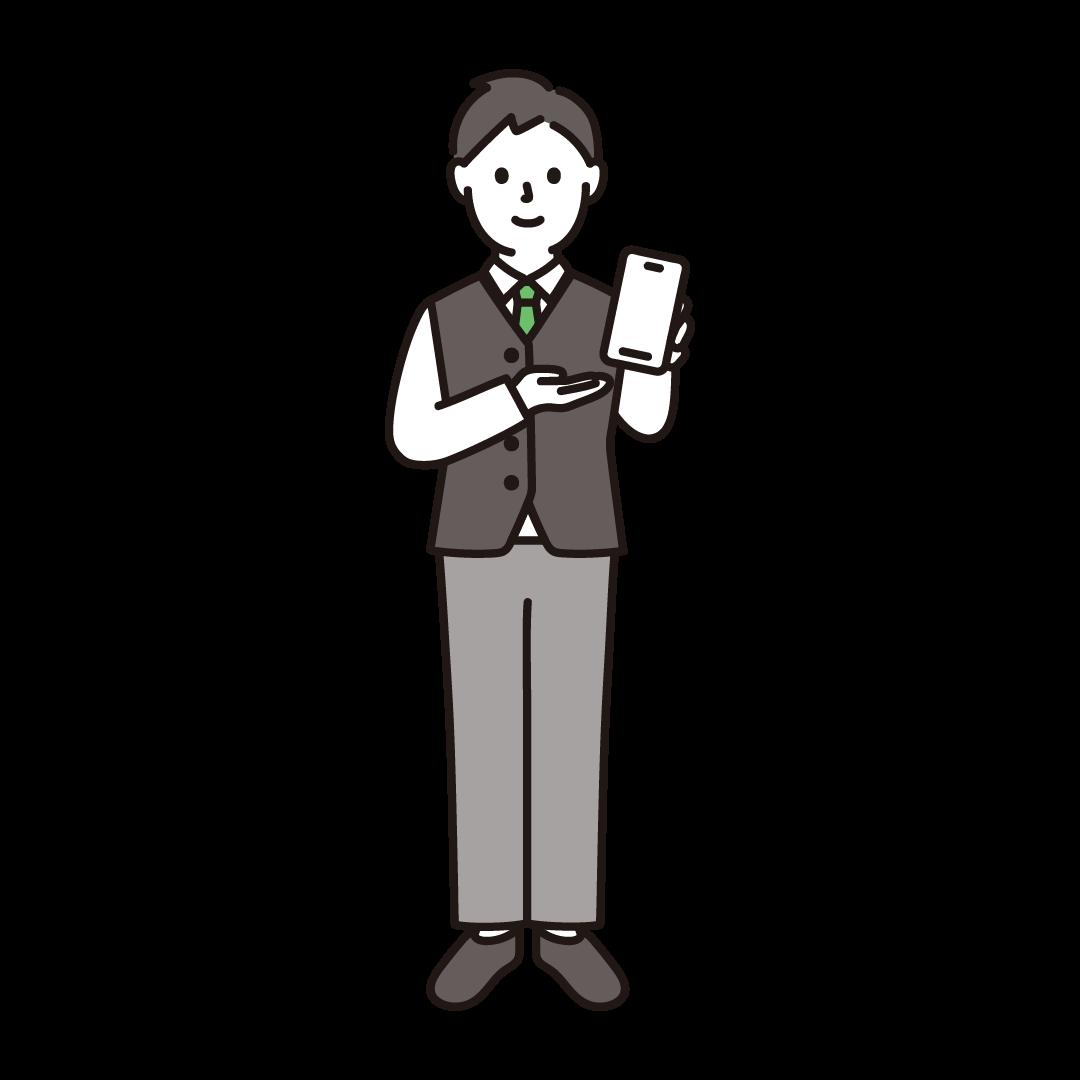 携帯電話販売員(男性)