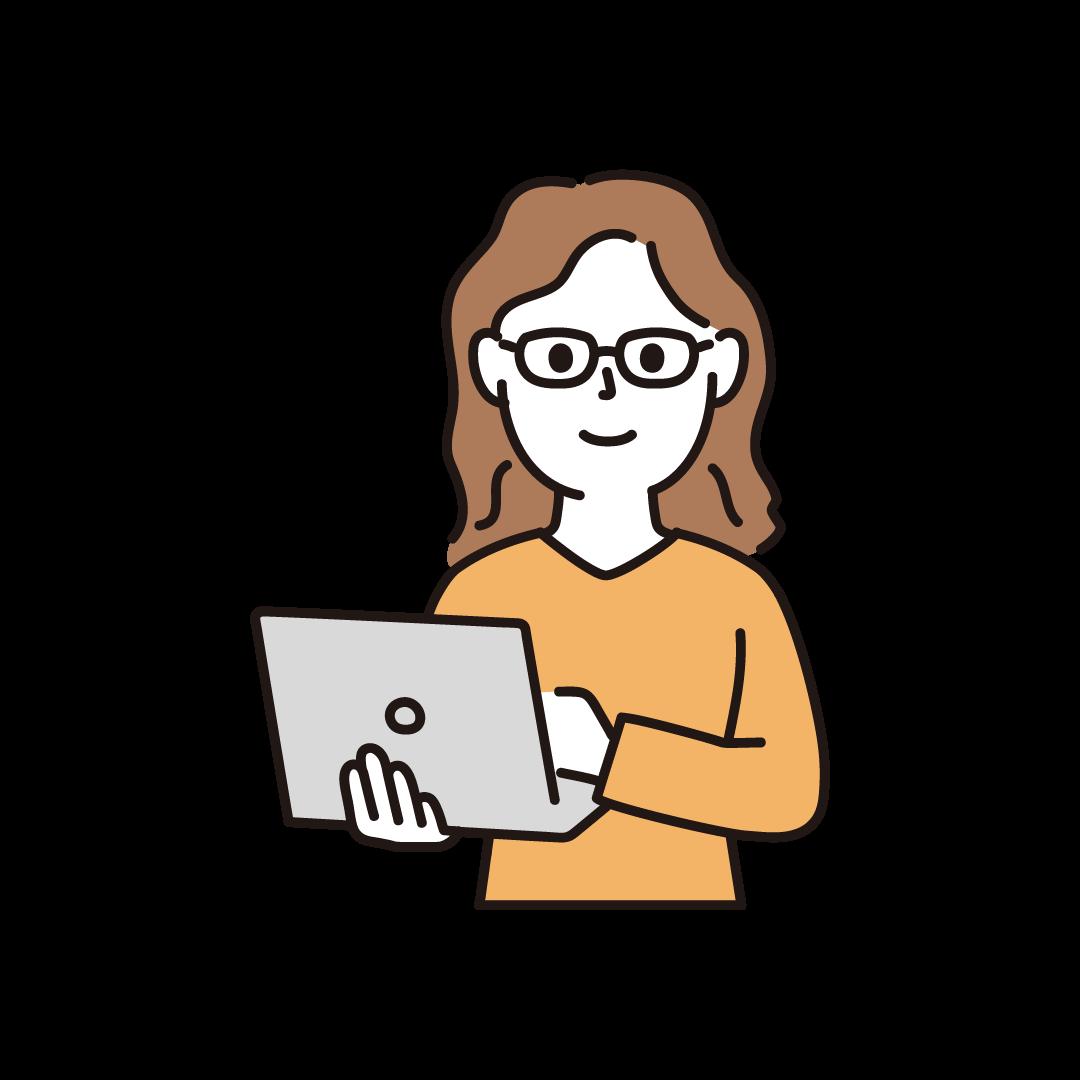 プログラマー(女性・上半身)