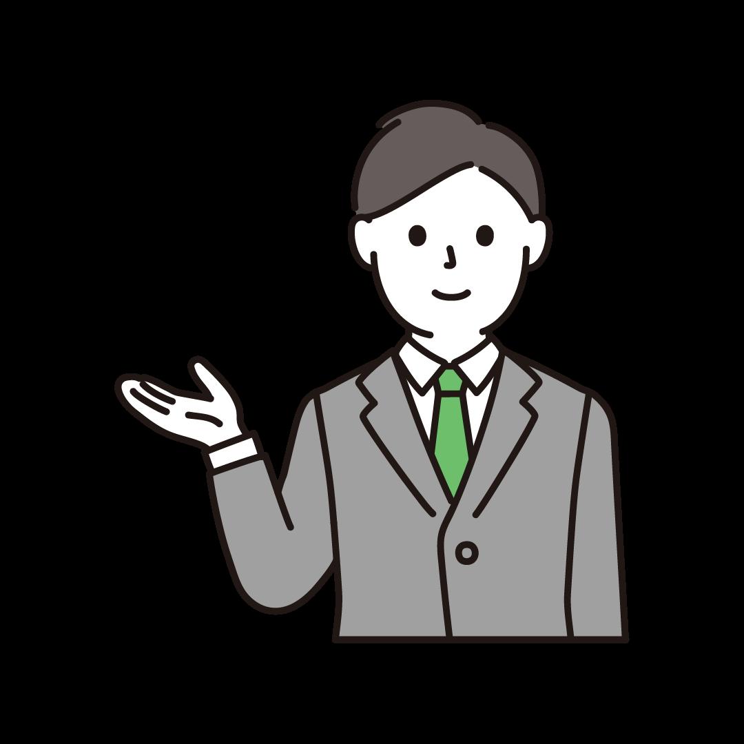 営業マン(上半身)のイラスト