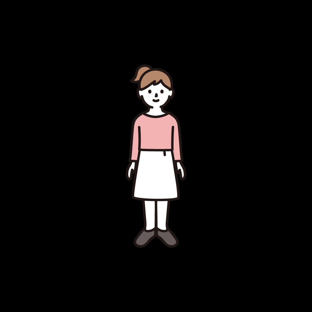 女の子(全身)のイラスト