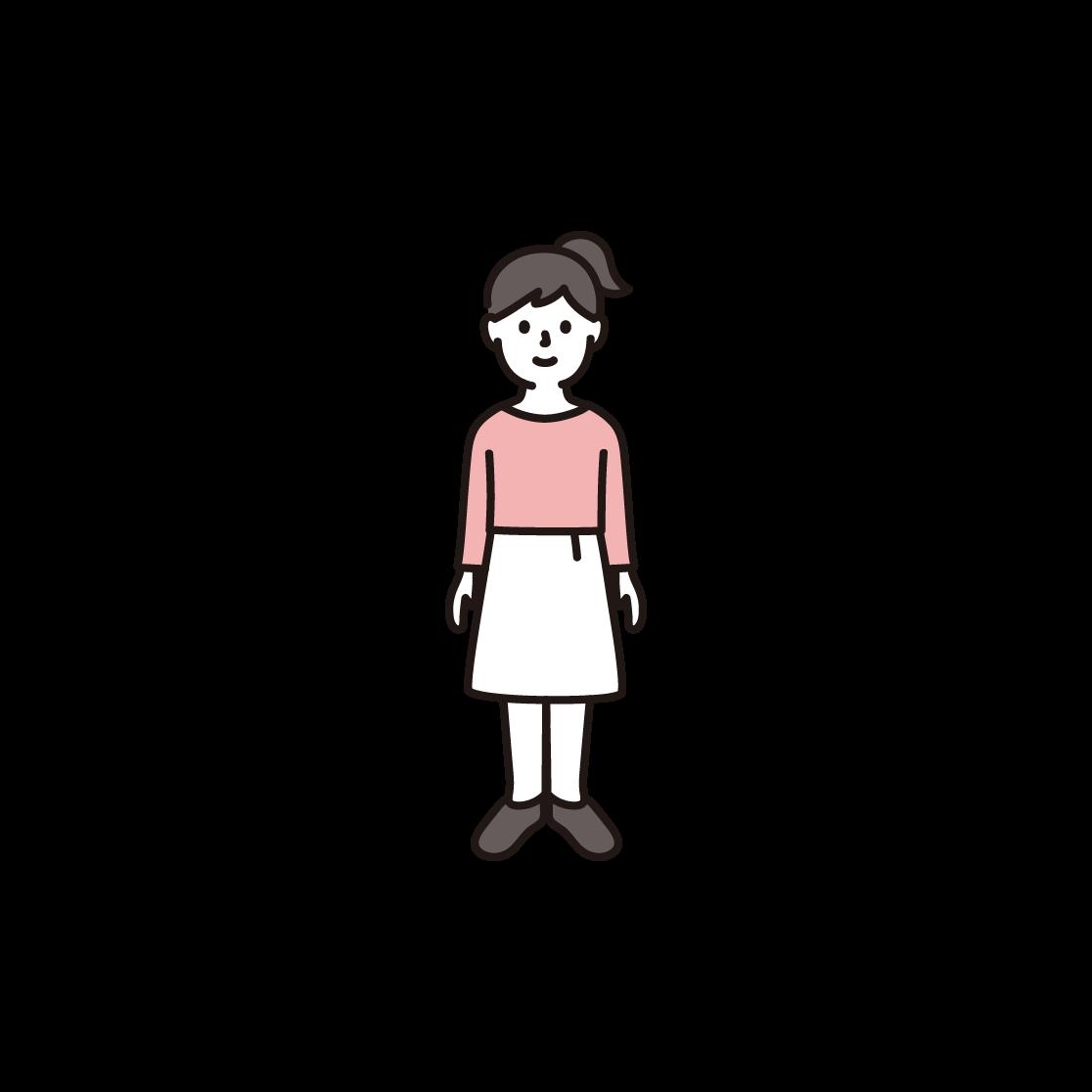 子ども(女の子)のイラスト