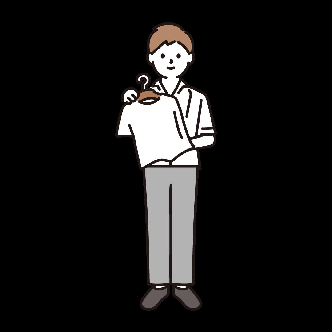 アパレル店員(男性)のイラスト