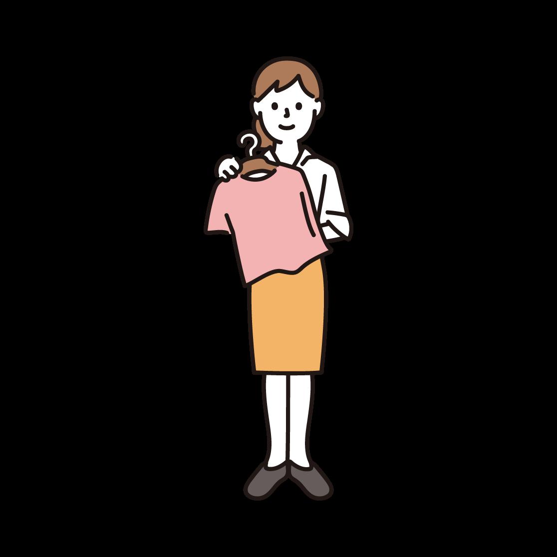アパレル店員(女性)のイラスト