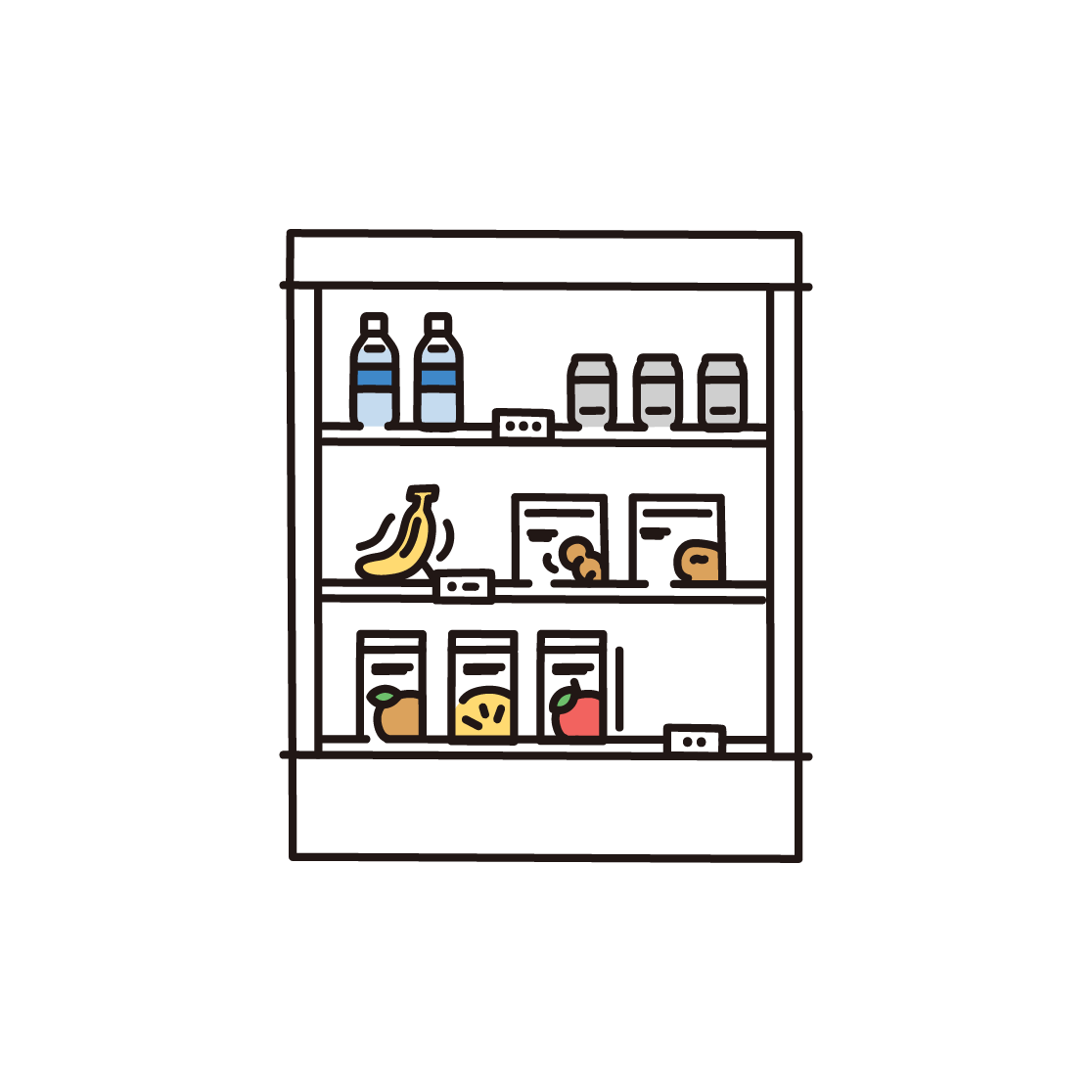 商品棚のイラスト