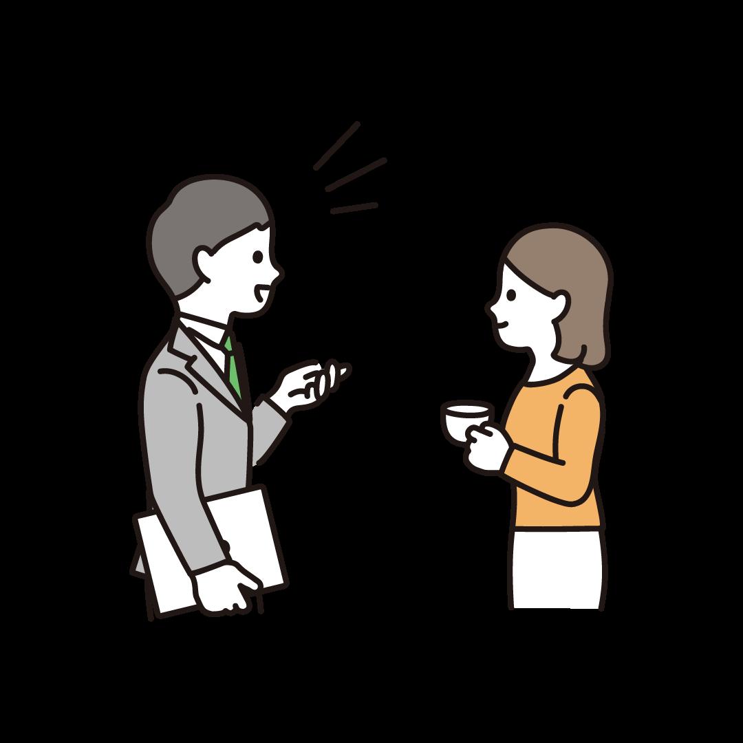会話する人のイラスト