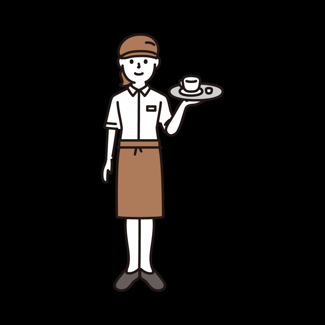 カフェ店員・ウェイトレス
