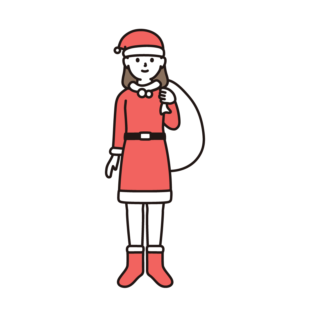 サンタクロース(女性)のイラスト