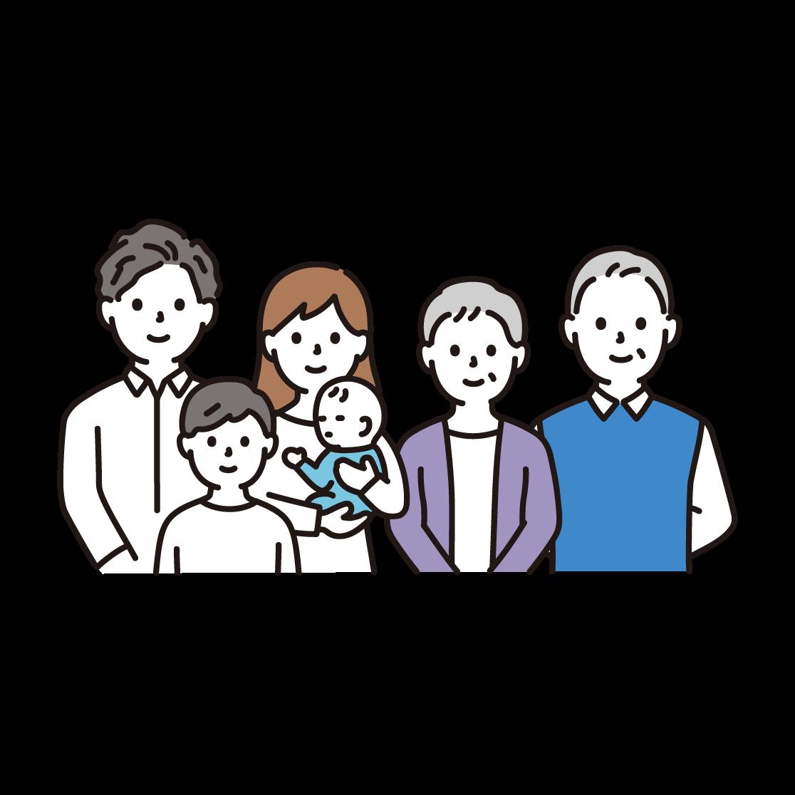 3世代家族(上半身)