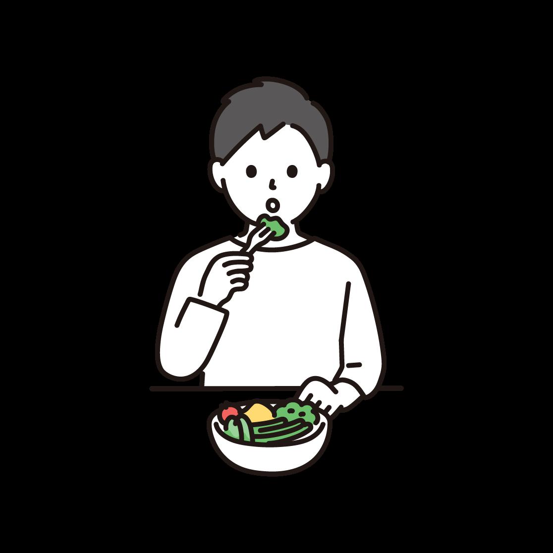 食事制限をする男性