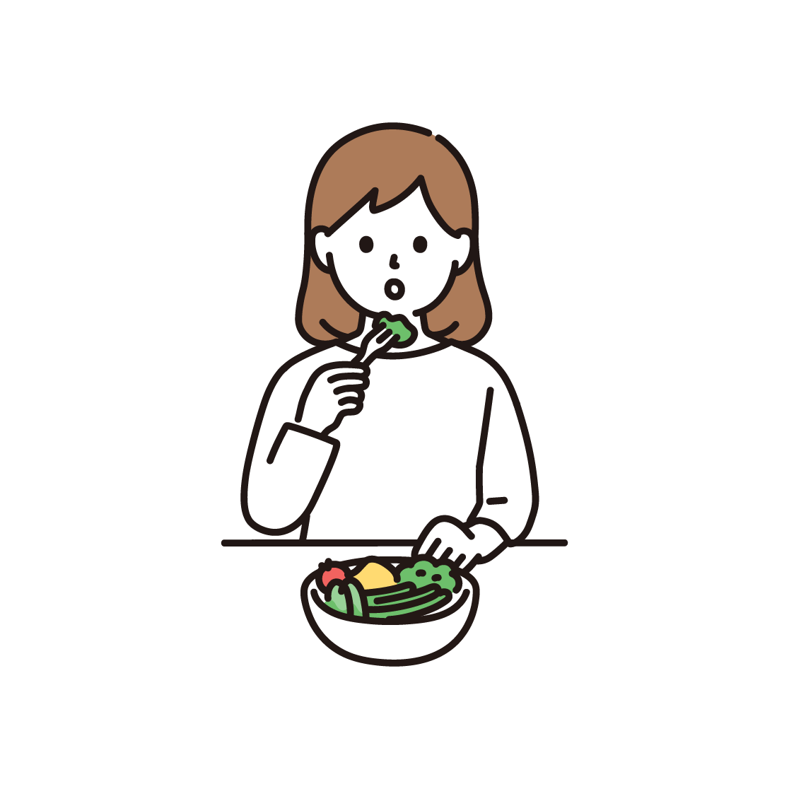 食事制限をする女性
