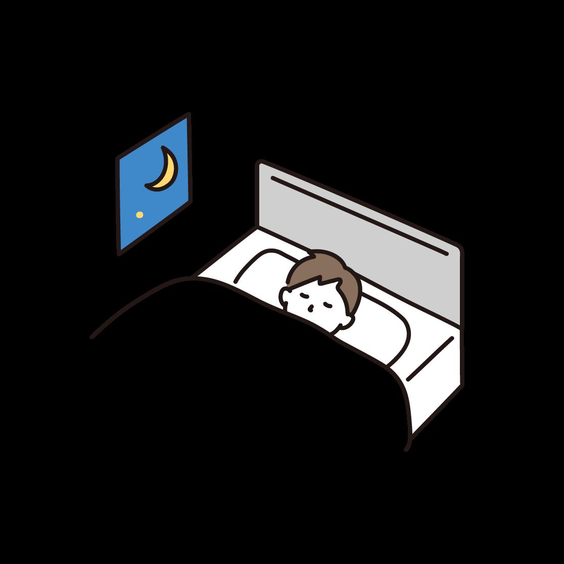 寝ている男性のイラスト