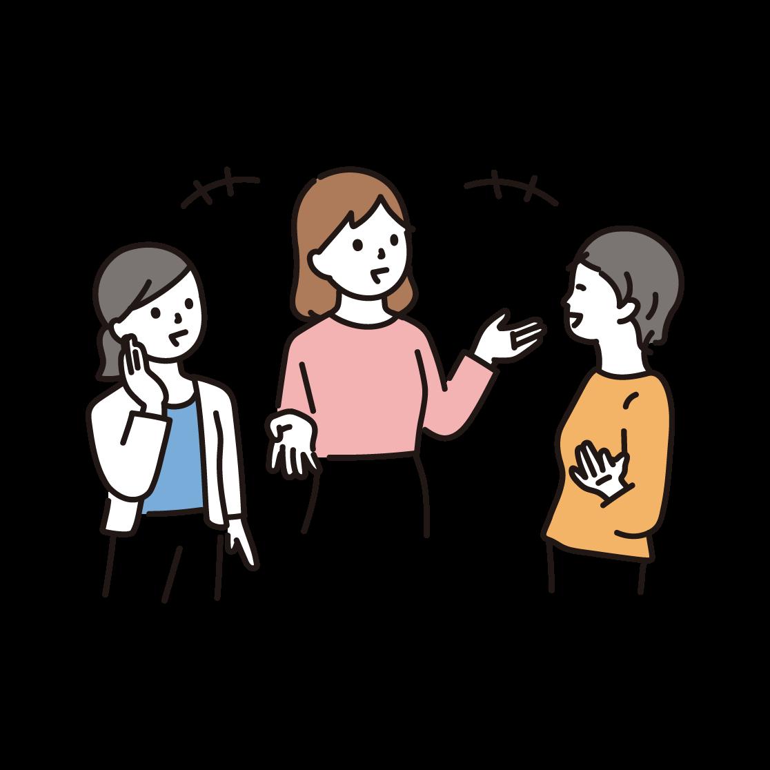 笑い合う3人の女性