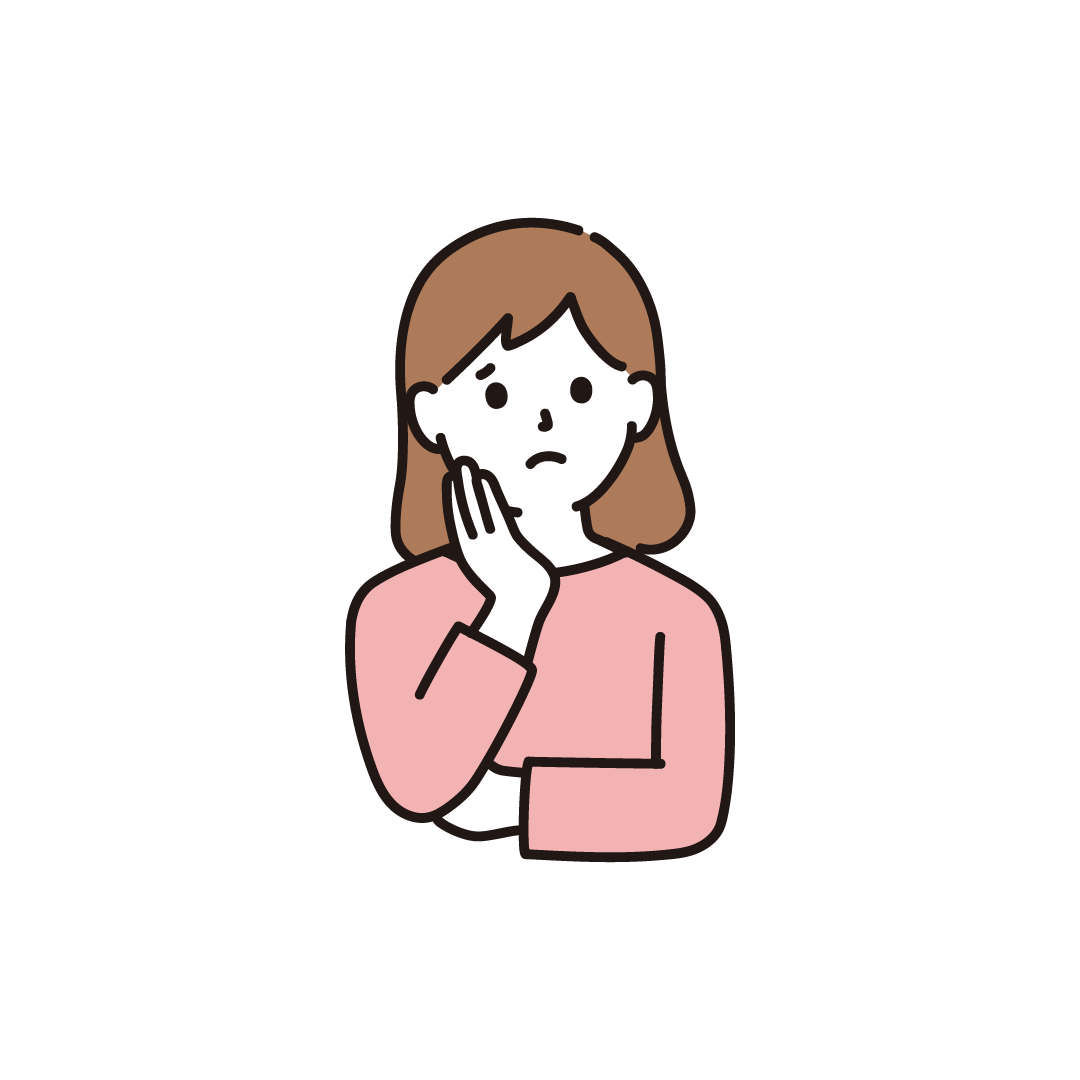 悩む女性のイラスト