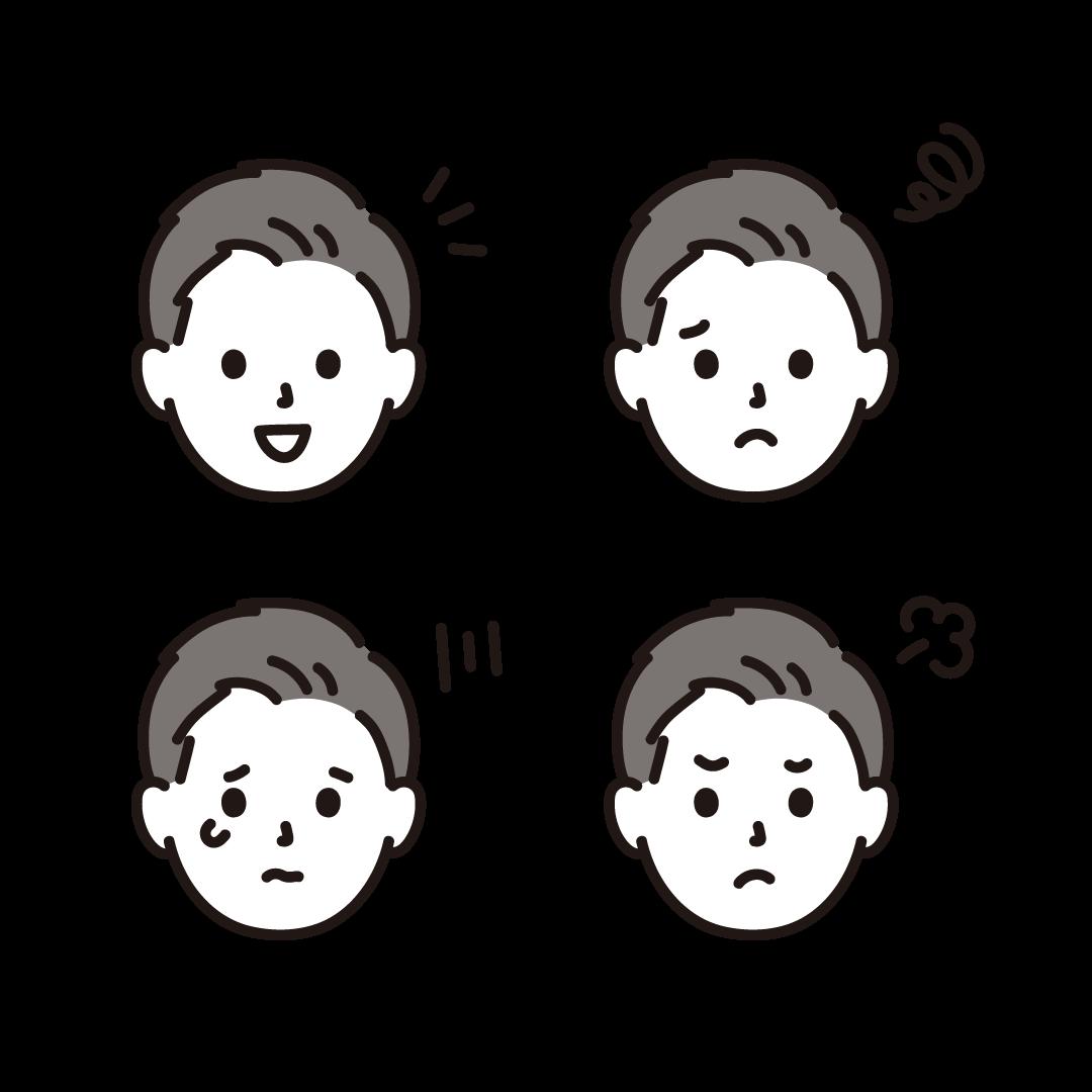 いろいろな表情(男性)