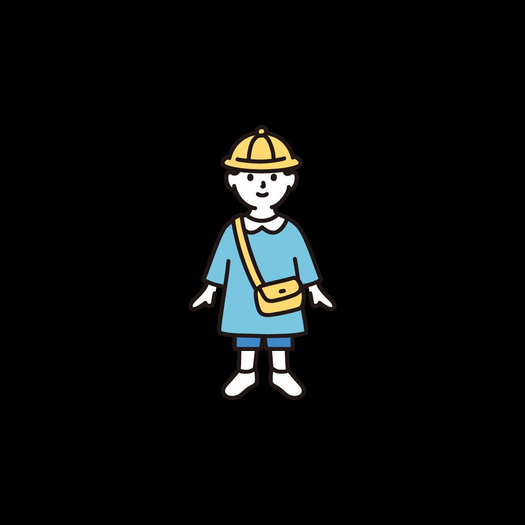 幼稚園児(男の子)のイラスト