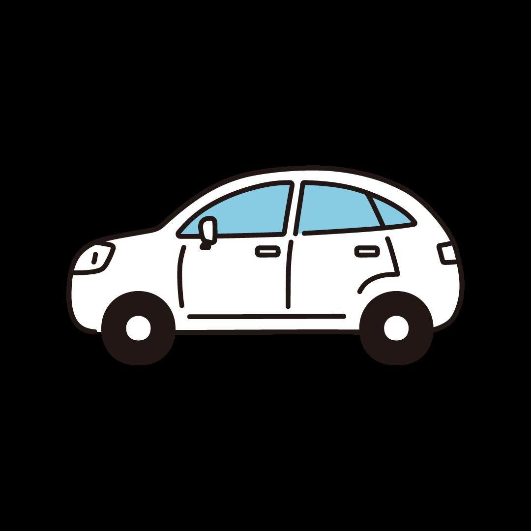 横向きの車のイラスト