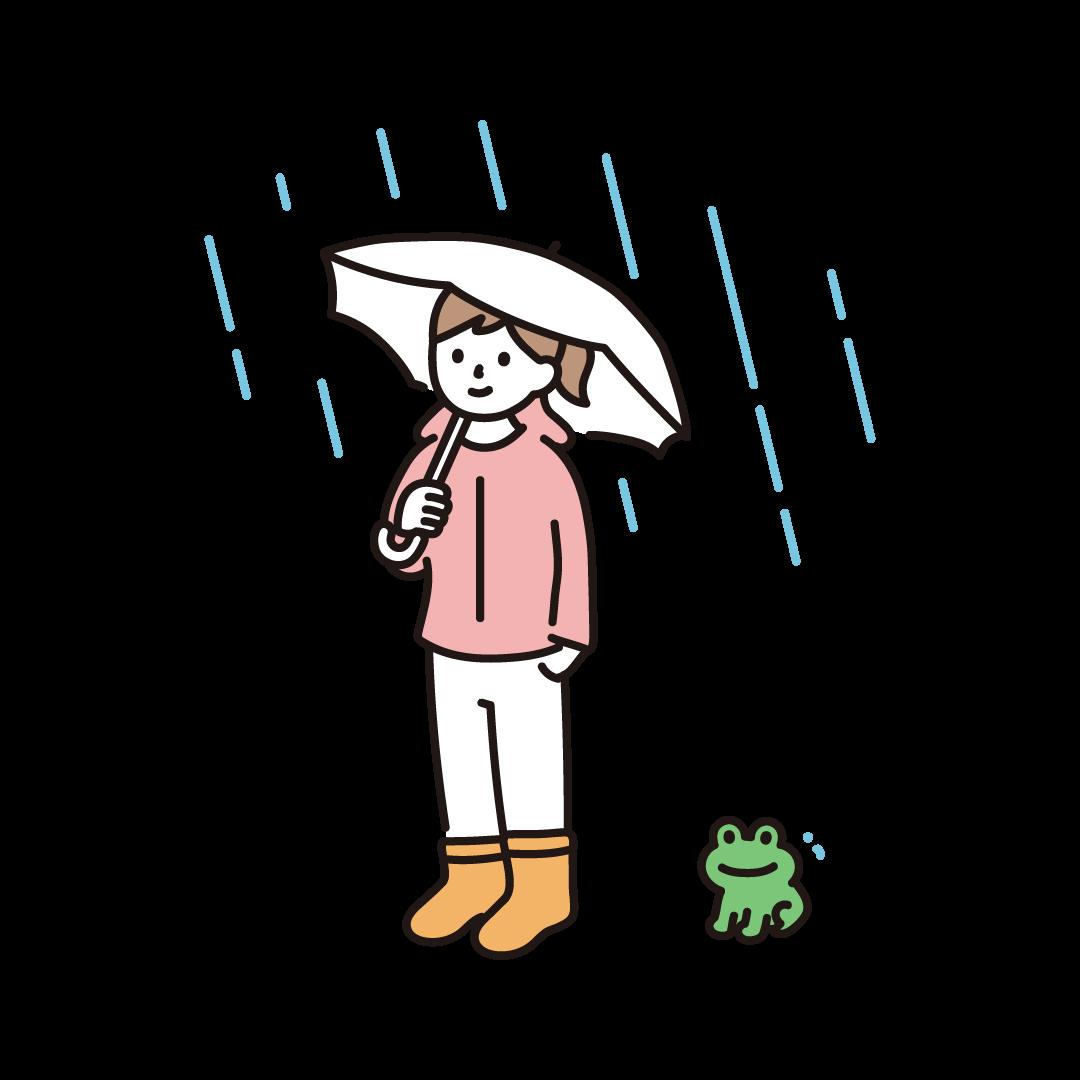 傘をさす女の子