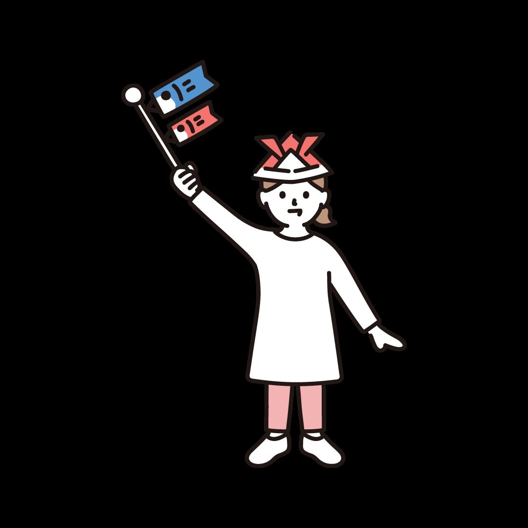 子どもの日(女の子)のイラスト