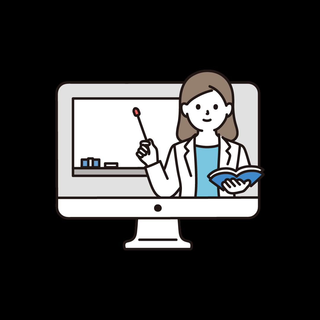 オンライン授業のイラスト