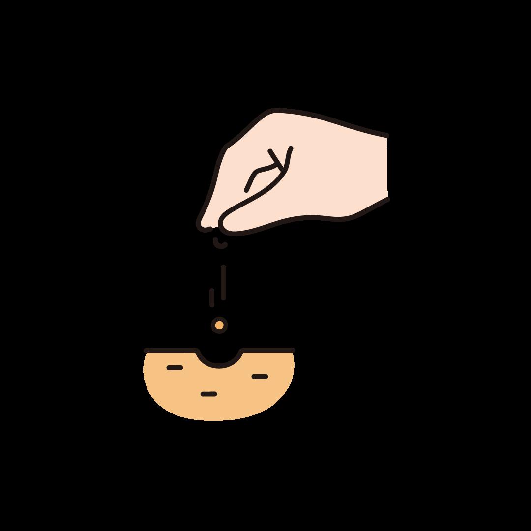 種まきのイラスト
