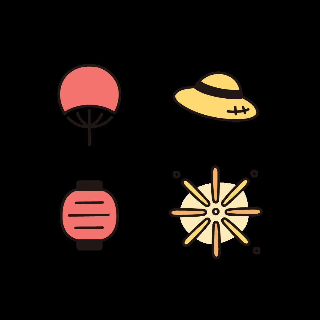 夏のイラスト(セット)