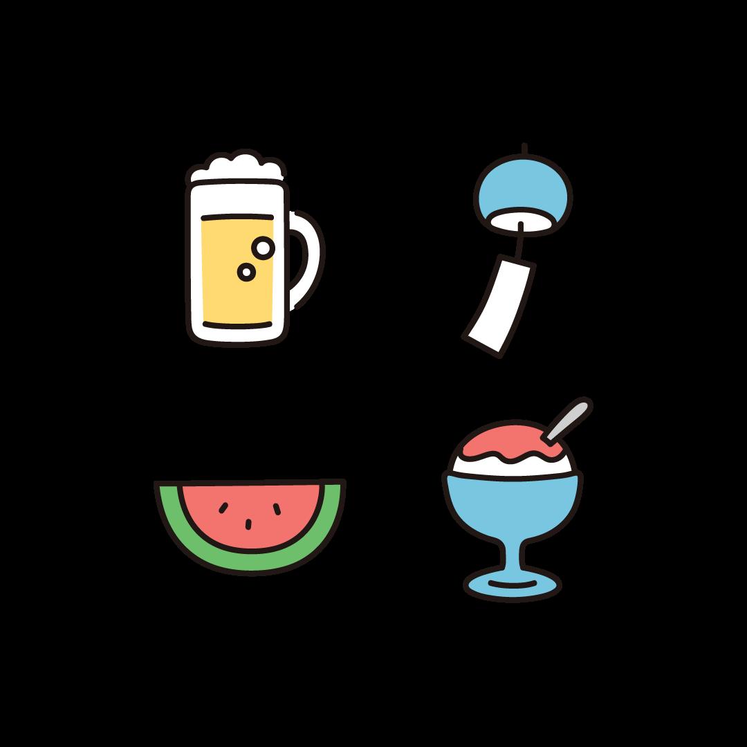 夏のイラスト(セット2)