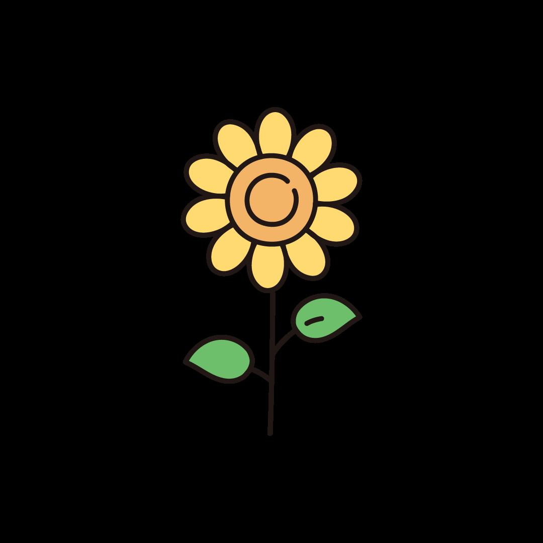 ひまわり(向日葵)のイラスト