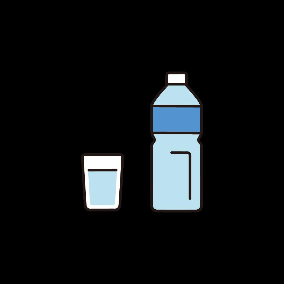 コップとペットボトルのイラスト
