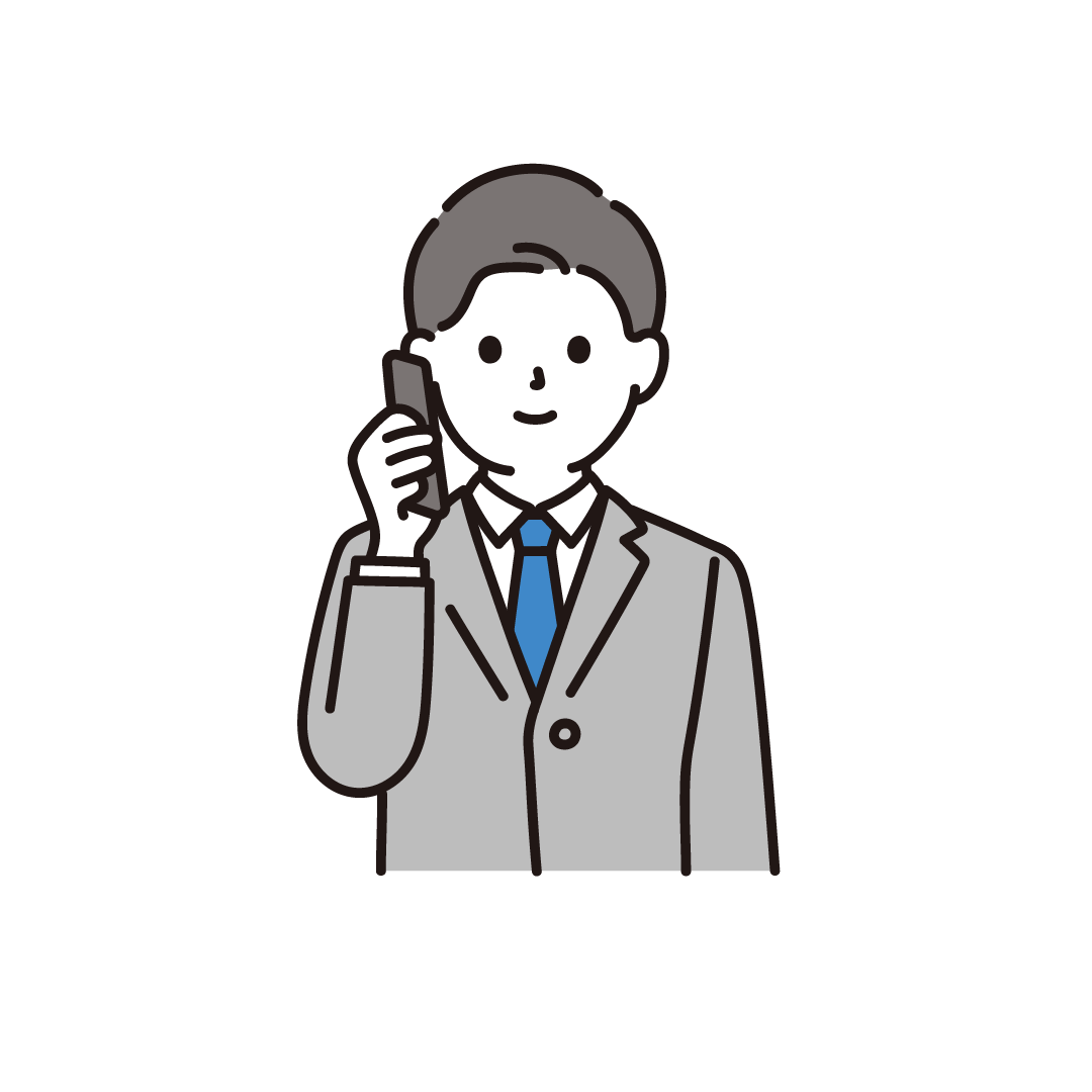 電話をするビジネスパーソン