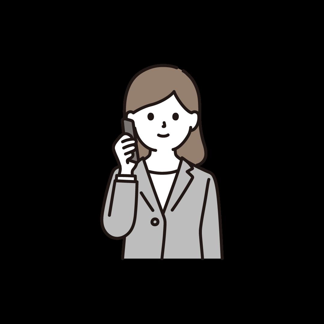 電話をするビジネスパーソンのイラスト
