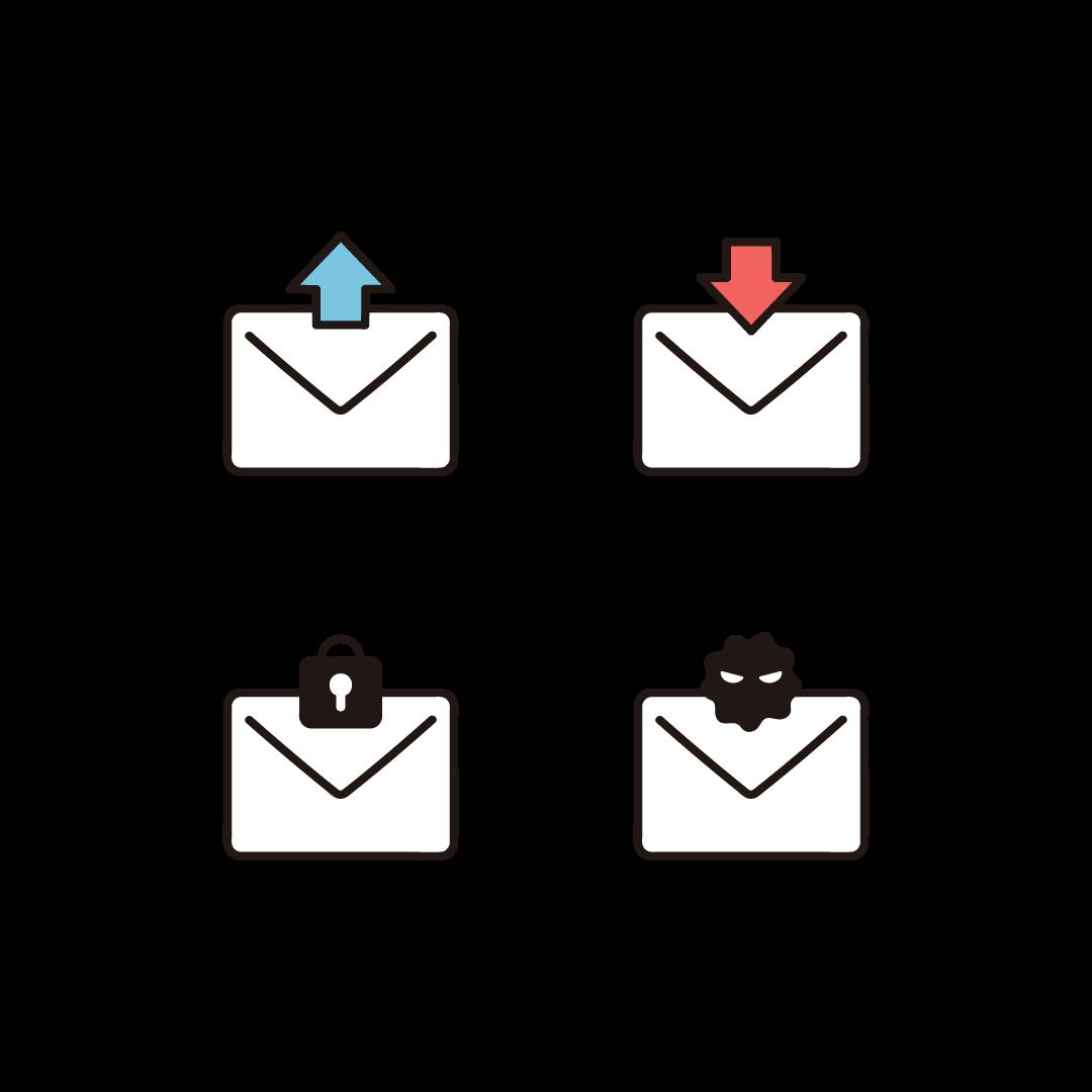 メールのイラスト(セット)