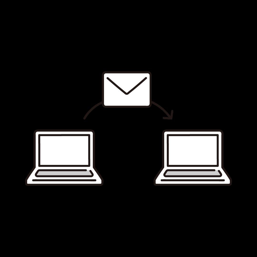 メール送信のイラスト